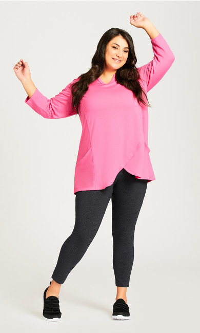 Plus Size Legging Pima High Rise Charcoal - petite