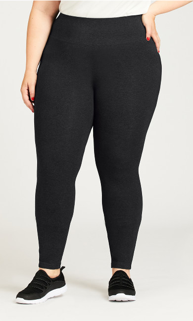Plus Size Legging Pima High Rise Charcoal - tall