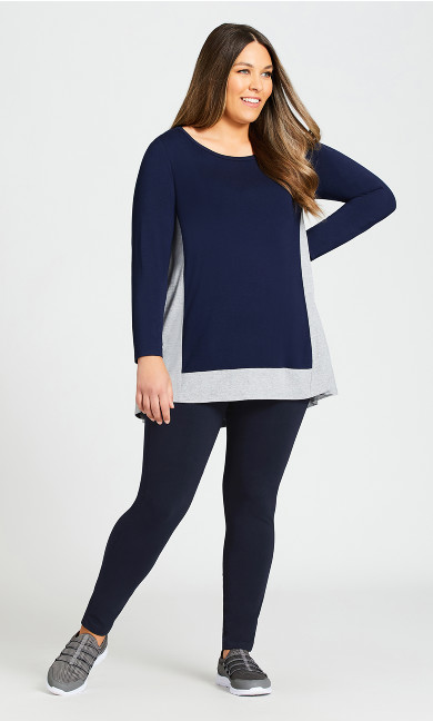 Plus Size Legging Pima High Rise Navy - average