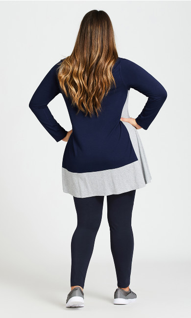 Legging Pima High Rise Navy - average