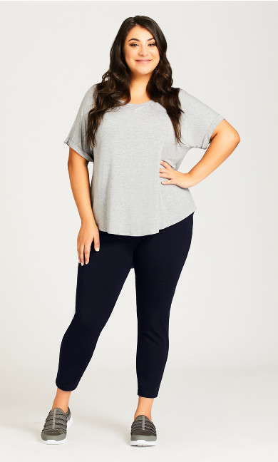 Plus Size Legging Pima High Rise Navy - petite