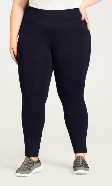 Plus Size Legging Pima High Rise Navy - tall