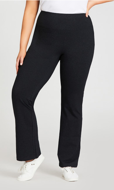 Legging Pima Bootleg Charcoal - tall