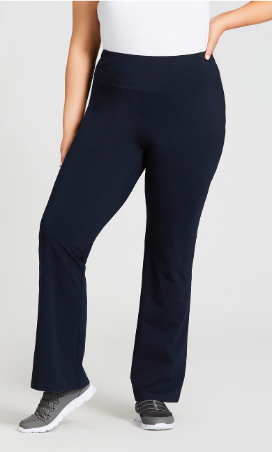 Legging Pima Bootleg Navy - tall