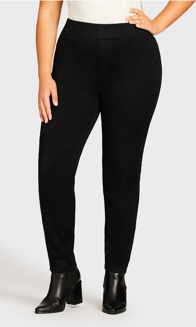 Butter Denim Pull-On Jean Black - average
