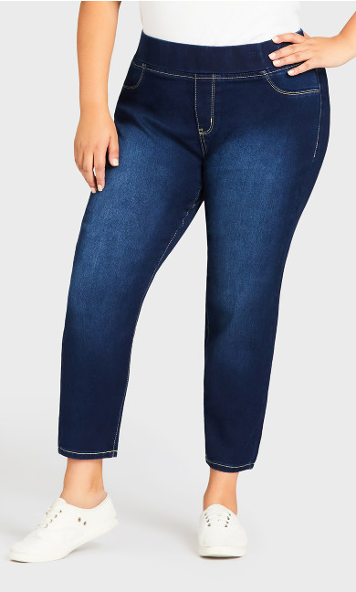Butter Denim Pull-On Jean Dark Wash - petite