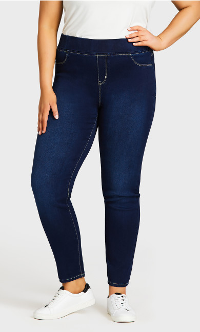 Butter Denim Pull-On Jean Dark Wash - tall