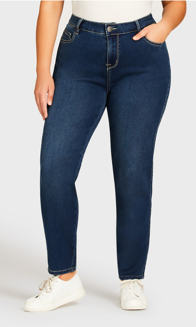 Butter Denim Skinny Jean Mid Wash - average