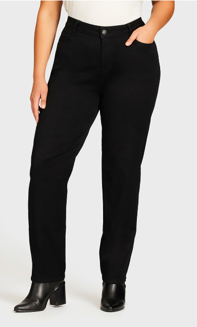 Butter Denim Straight Jean Black - average