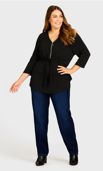 Plus Size Butter Denim Straight Jean Dark Wash - average