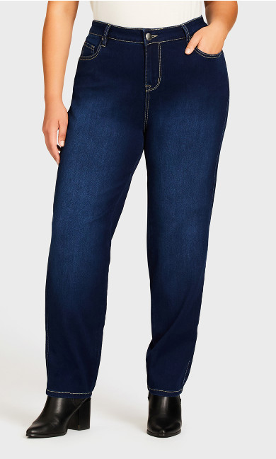 Butter Denim Straight Jean Dark Wash - average