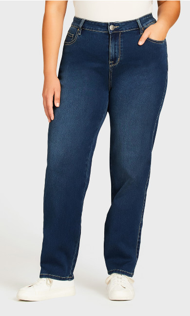 Butter Denim Straight Jean Mid Wash - average
