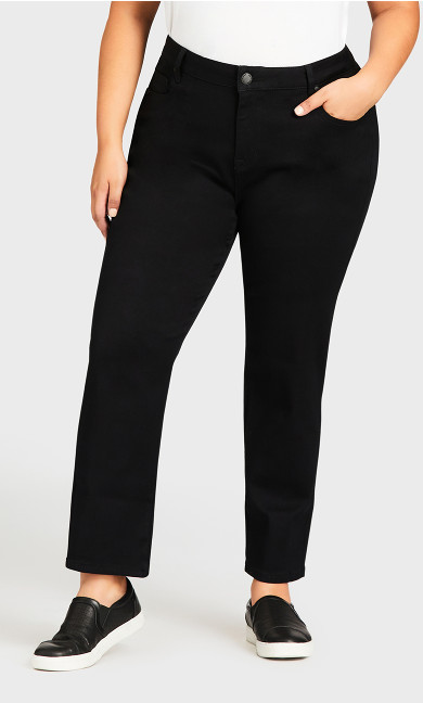 Butter Denim Straight Jean Black - petite