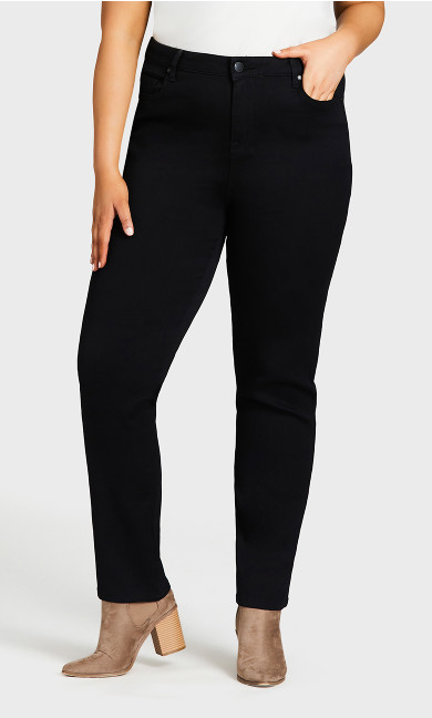 Butter Denim Straight Jean Black - tall