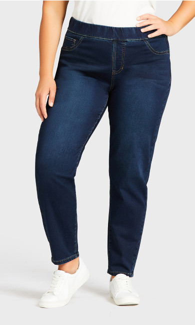 Jegging Hi Rise Dark Wash - average