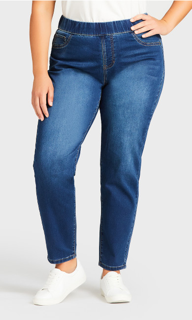 Jegging Hi Rise Mid Wash - average