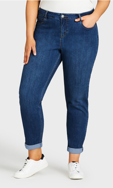 Girlfriend Stretch Jean Mid Wash - tall