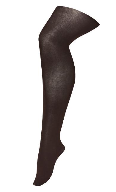 Plus Size Basic Fashion Tights - brown