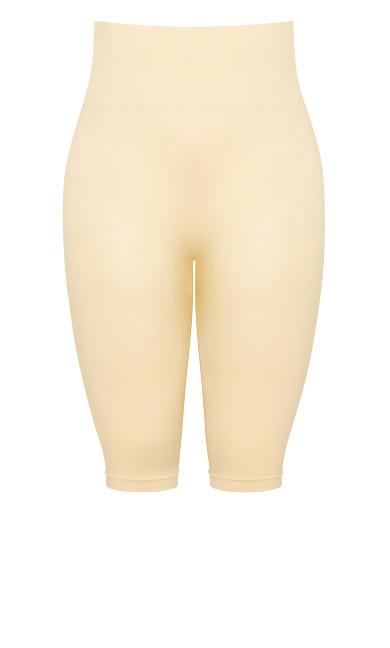 Seamless Hi Waist Capri - beige