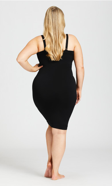 Seamless Shaper Slip - black