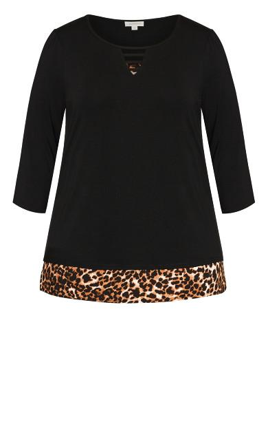 Diane Top - black leopard