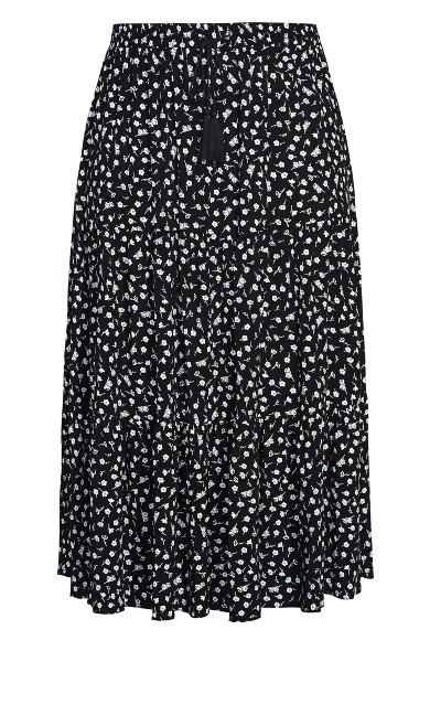 Sweet Ditsy Skirt - black