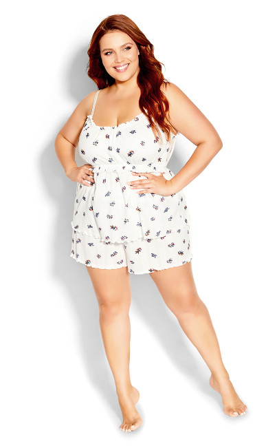 Eden Short PJ Set - ivory