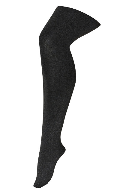 Plus Size Plush Lined Tights - gray