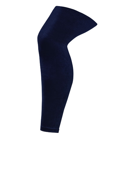 Plus Size Velvet Leggings - navy