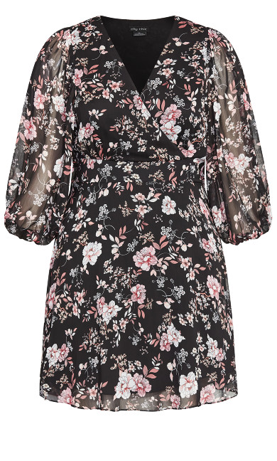 Imperial Bloom Dress - black