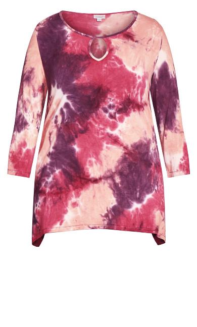 Tie Dye Cage Top - pink