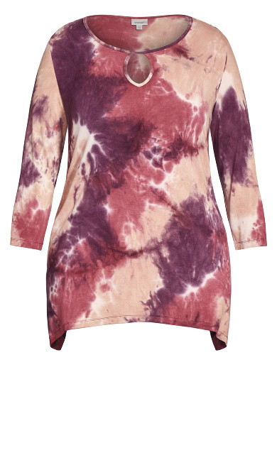 Tie Dye Cage Top - pink