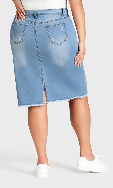 Denim Stretch Skirt - light wash