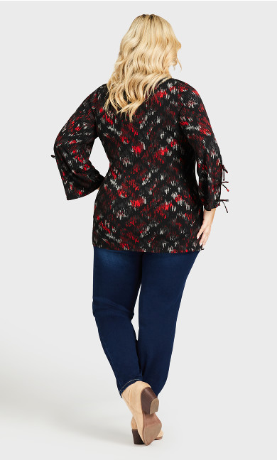 ITY Print Cage Top - black red print