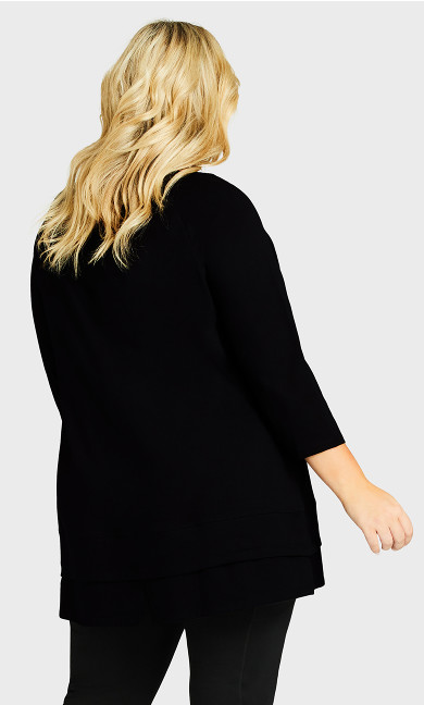 Split Back Tunic - black