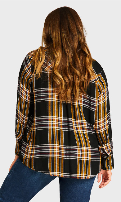 Yarn Dye Shirt - black check