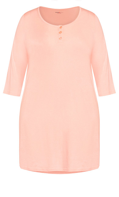 Button Up Sleep Shirt - pink