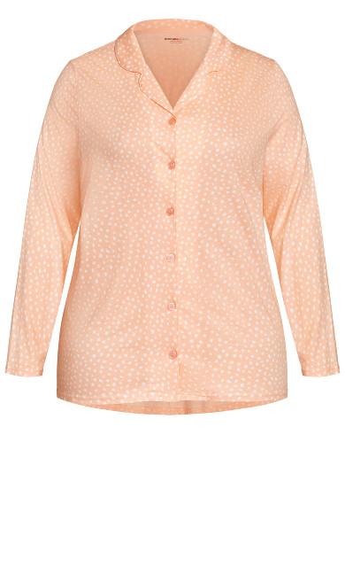 Button Through Sleep Top - pink