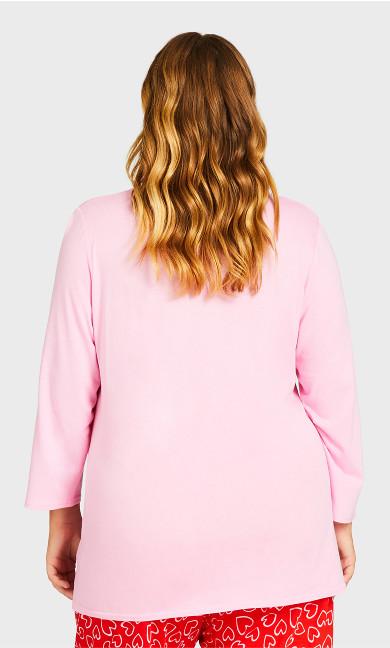 Print Sleep Top - pink
