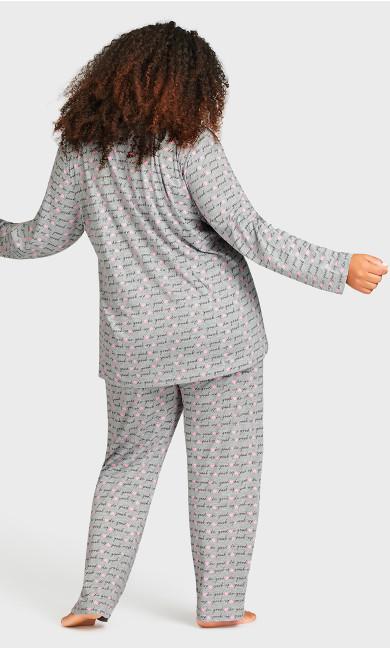 Print Sleep Pant - gray