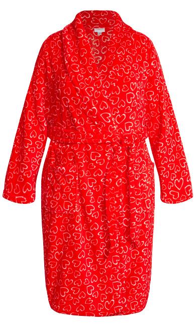Love Heart Robe - red heart