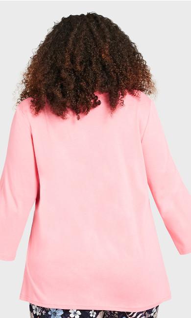 3/4 Sleeve Sleep Top - pink