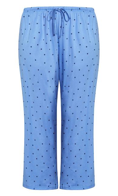 Movie Night Sleep Pant - blue star