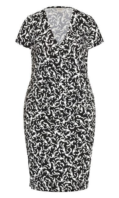 Donna Print Dress - baroque mono