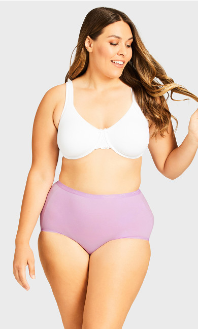 Fashion Cotton Full Brief - lilac