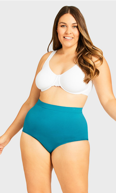 Fashion Seamless Full Brief - teal