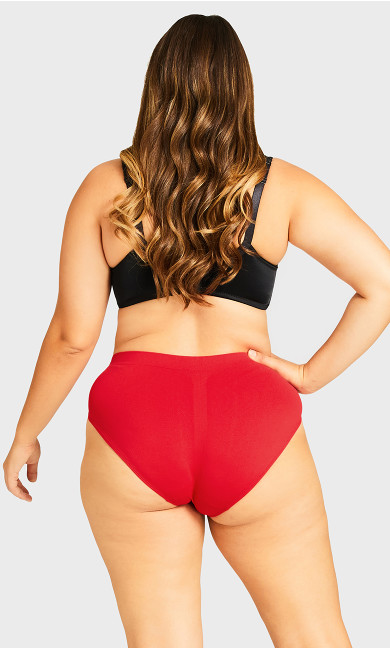 Fashion Seamless Hi Cut Brief - scarlet