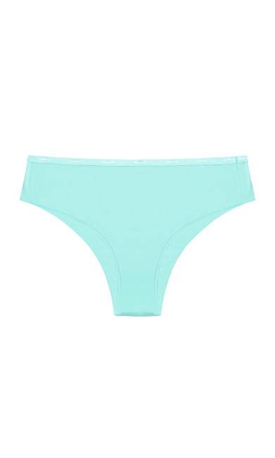 Fashion Cotton Hi Cut Brief - spearmint
