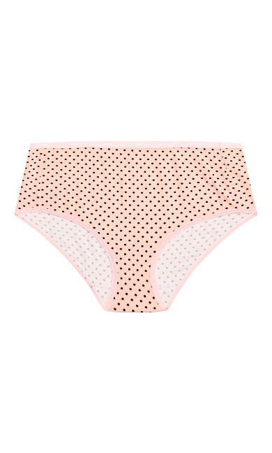 Fashion Cotton Full Brief - pink spot