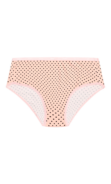 Fashion Cotton Modern Brief - pink spot